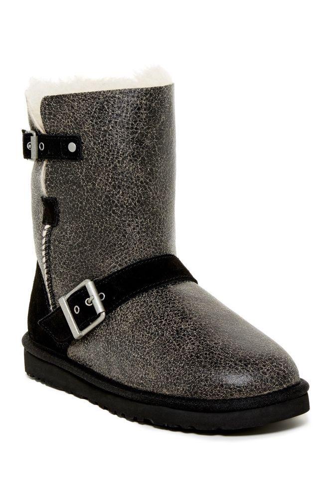 ugg classic short dylyn genuine sheepskin boot black women s 8 excel rh pinterest com