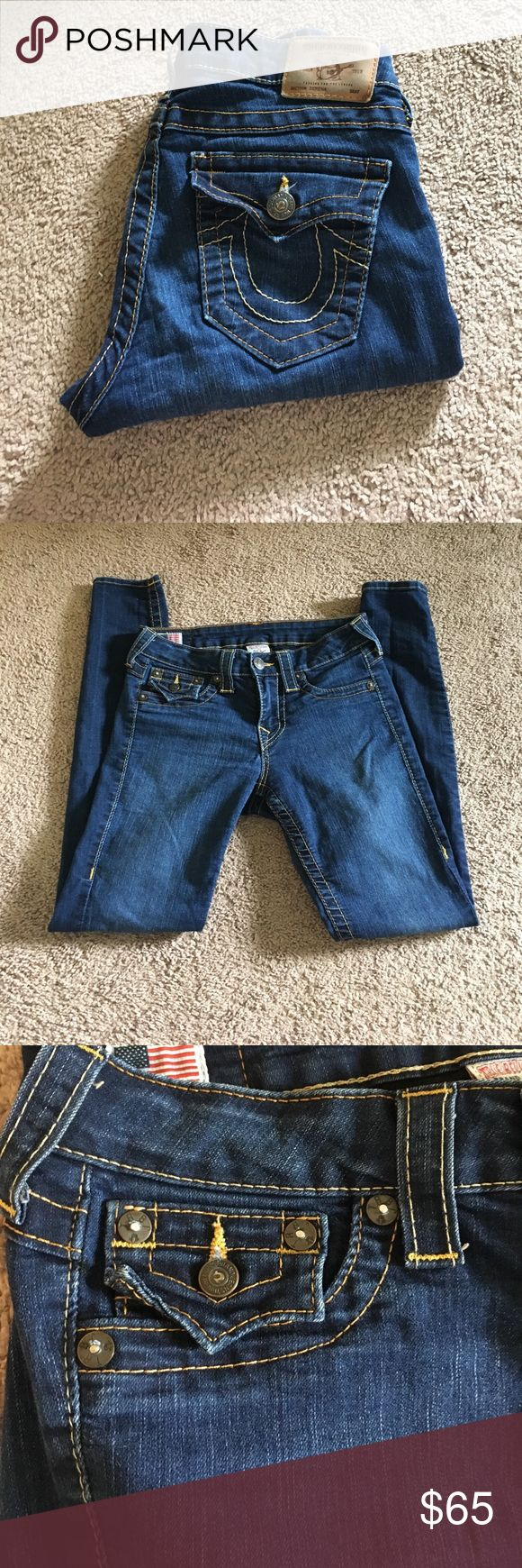 True Religion Jean Leggings True Religion Jean Leggings, size 27, gently used, skinny ankle cut, machine washed and air dried only, also coming from pet and smoke free environment. Will accept offers, but please no low ballers. True Religion Jeans Skinny