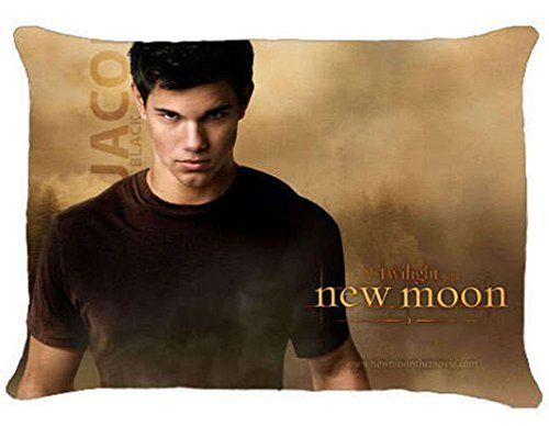 Hot Sale Custom Jacob Black Twilight New Moon Zippered Pillow Case 20x30 (Twin Sides Print)  Pillow Case Only (Pillow not included)  Smooth with soft luster finish  Personalized especially for you  Hidden zipper closure  Twin sides print