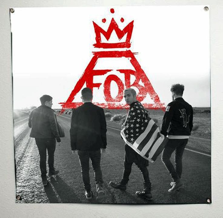 FALL OUT BOY (Red Crown) Banner/Flag