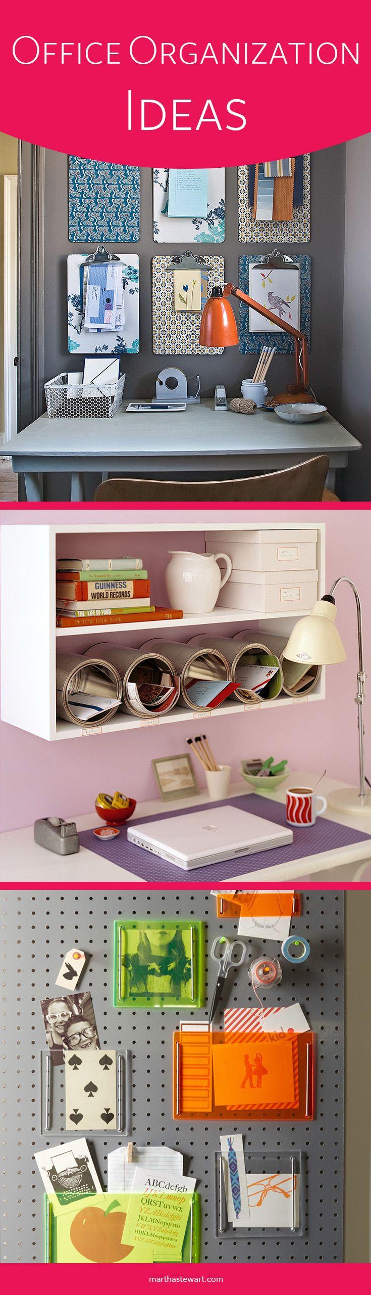 Office Organization Ideas | Martha Stewart Living