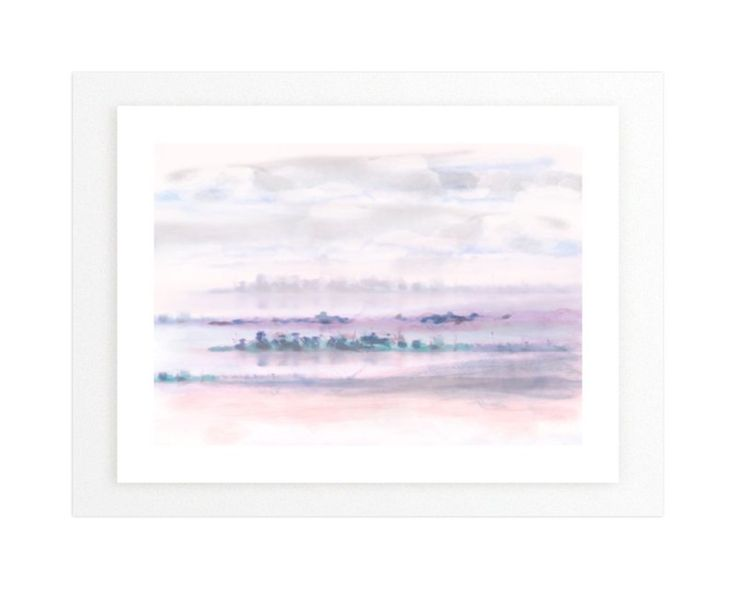 """""""Peninsula"""" - Art Print by Grace Kreinbrink in beautiful frame options and a variety of sizes."""
