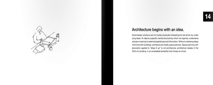 14 | Architecture begins with an idea.