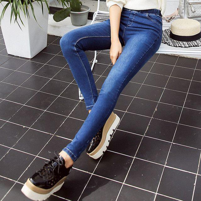 2017 Spring New Basic Skinny Women Jeans Ankle Nine Pants Slim Elastic Denim Pants Leggings Female Cotton Jeggings Jeans Women