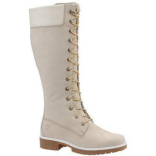 Women Timberland High Heel Boots (White)
