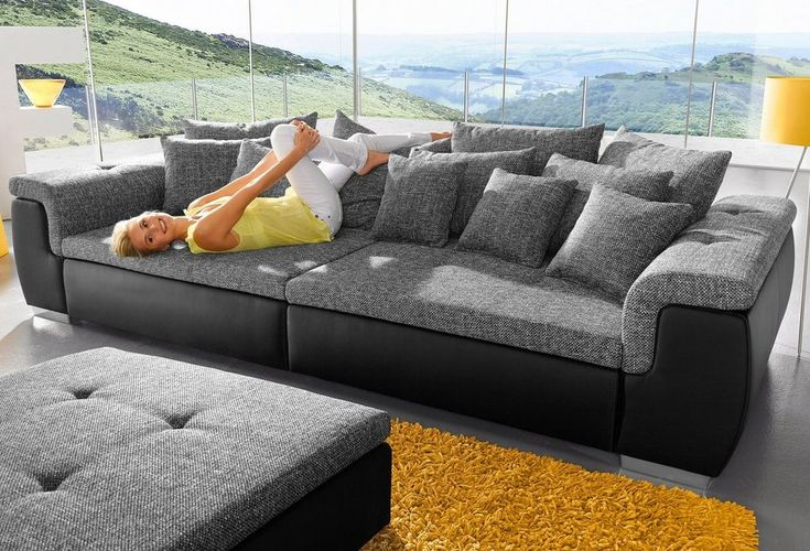 Big-Sofa, wahlweise mit RGB-LED-Beleuchtung Big sofas and Big - big sofa oder wohnlandschaft