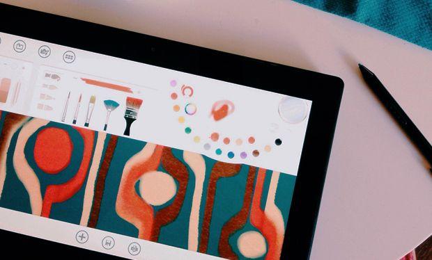 Surface Pro + Fresh Paint App