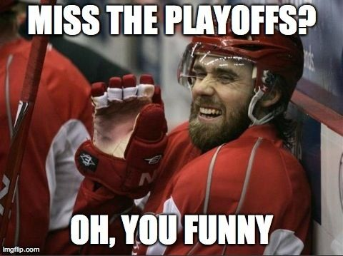 23 straight playoff appearances for the Detroit Red Wings, not the leafs ,, they suck
