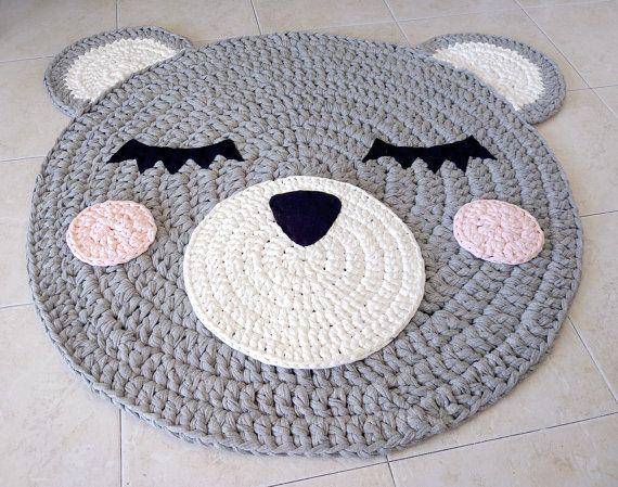Bär häkeln Teppich Teppich tragen handgefertigtes Teppich