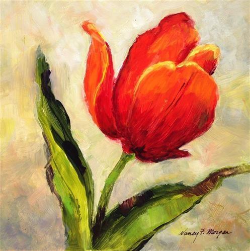"Daily Paintworks - ""Singular Sensation"" - Original Fine Art for Sale - © Nancy F. Morgan"