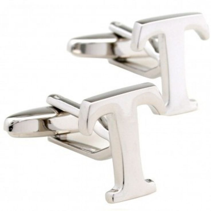 letter t alphabet initial cufflinks shopping the best deals on cuff links