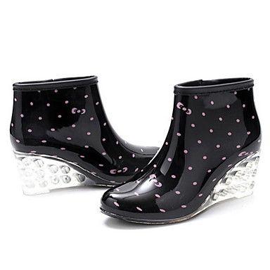 Műanyag Női Wedge Heel Bokacsizma Rain Boots (További színek) – EUR € 24.74