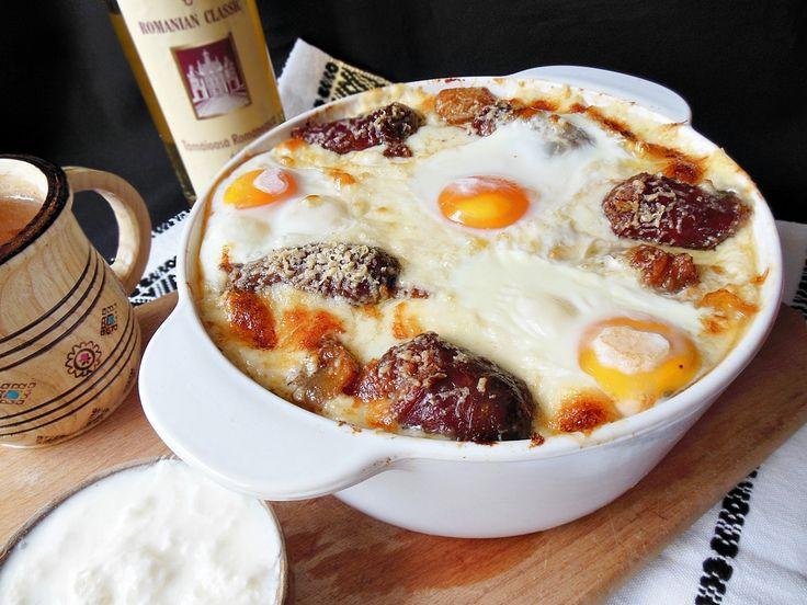 Reteta culinara Mamaliga in straturi din categoria Porc. Specific Romania. Cum sa faci Mamaliga in straturi