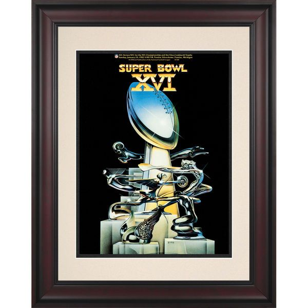 """Fanatics Authentic 1982 49ers vs. Bengals Framed 10.5"""" x 14"""" Super Bowl XVI Program - $89.99"""