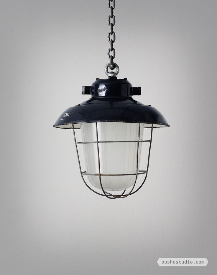 CZECH VINTAGE NAVY INDUSTRIAL PENDANT - SMALL: These light are coming from a country that doesn't exist anymore, but they still have the original factory plaquette from their home, the former Czechoslovakia.// Busho Studio