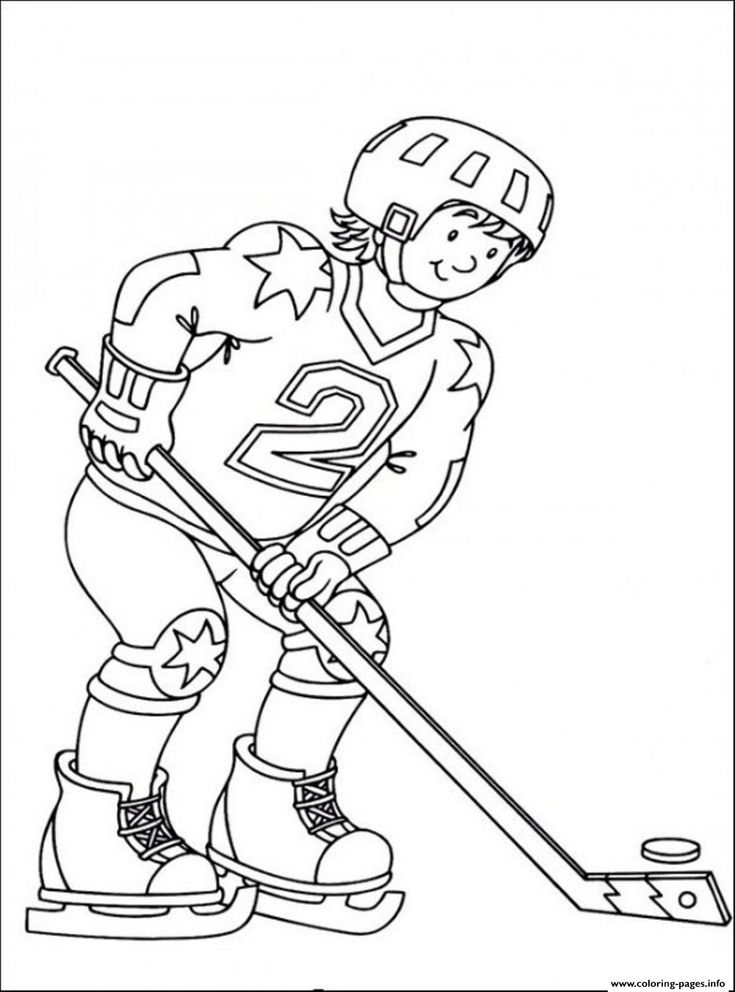 Print hockey sedbd coloring pages