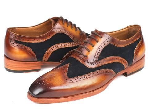 89ce2729b68c3 Paul Parkman Brown Leather & Navy Suede Oxfords – Styles By Kutty ...