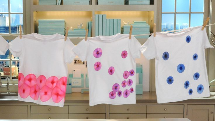 These adorable T-shirts are a fun and easy craft to make for a kids' birthday party.