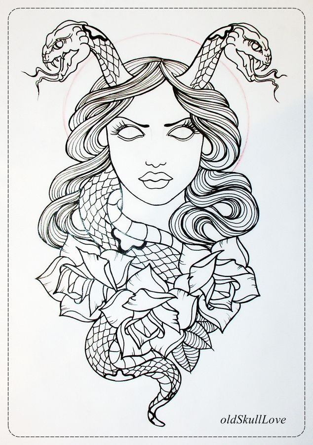 Tattoo Drawing Outline : Images about i d tat that on pinterest medusa