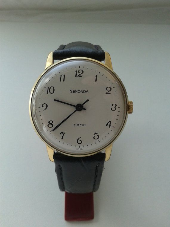 SEKONDA Vintage Soviet mechanical mens watch Made in USSR ...