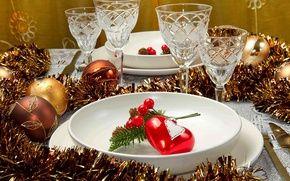 Обои holiday, heart, glasses, Happy New Year, праздник, сердце, Merry Christmas, украшения, зима, Рождество, ornaments, чашки, ...