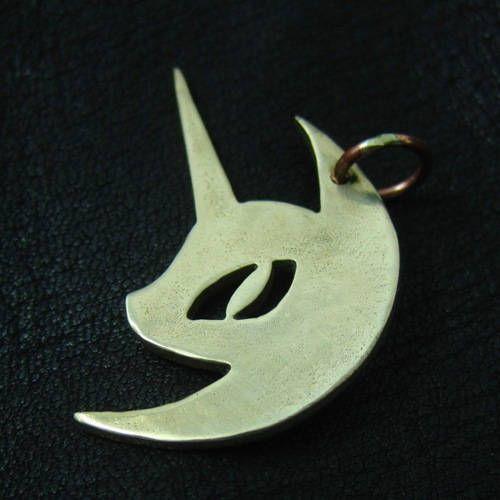 Bronze Nightmare Moon pendant