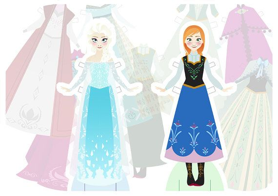Print at home Frozen Paper Dolls Luxury Set Instant Download on Etsy, $14.29