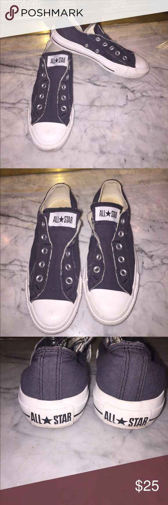 Converse Slip On Sneakers Great Condition!/Unisex!/ Navy Blue/ Women's size 6/ Men's size 4 Converse Shoes Sneakers
