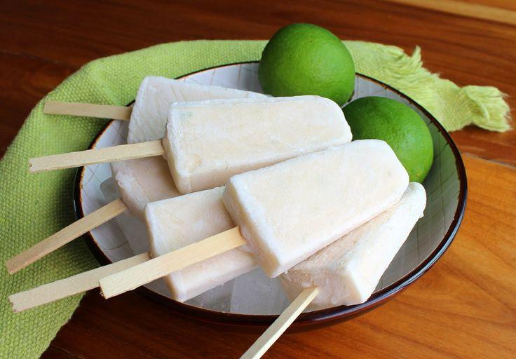 picolé de limão e coco - Melinda na Cozinha