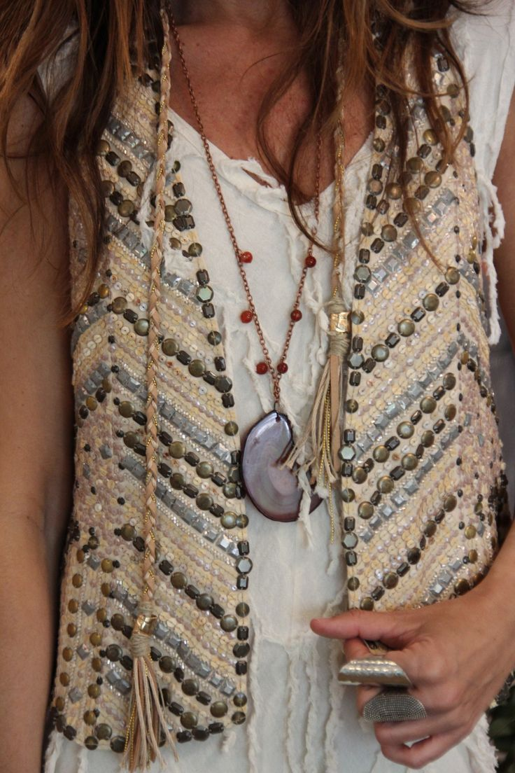this is so neat with agate beads and sequins
