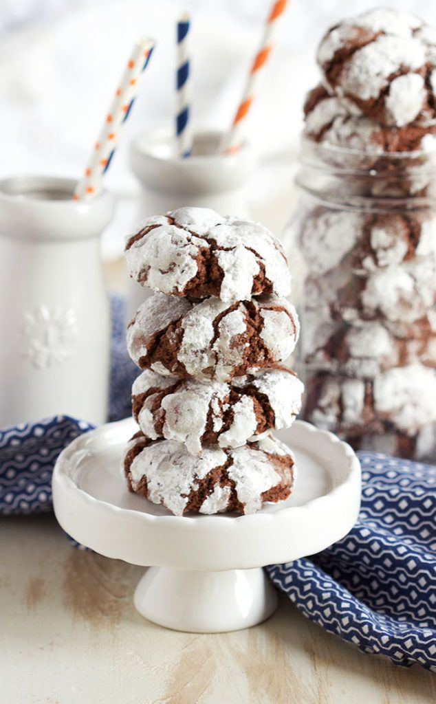 Always the first to go, these are the Very Best Chocolate Crinkle Cookies.  This recipe has been tested for decades and yields crisp on the outside, soft and gooey on the inside results every single time. | @suburbansoapbox