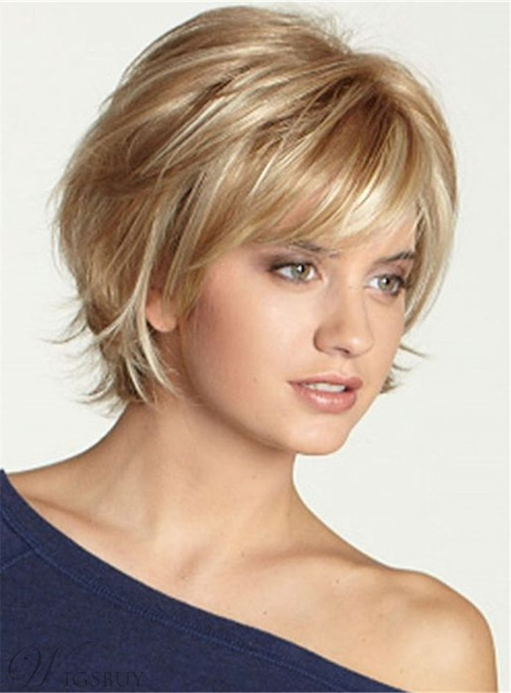Short Bob Straight Cut Nature Bangs Capless Human Hair Wig 10 Inches