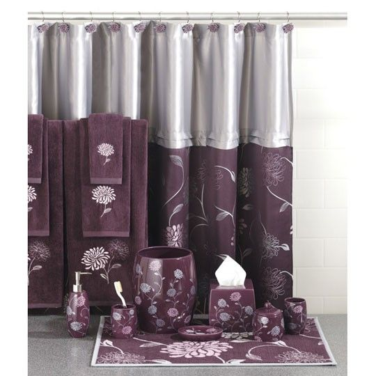 34 best bed bath curtains wish list images on for Stardust purple bath collection
