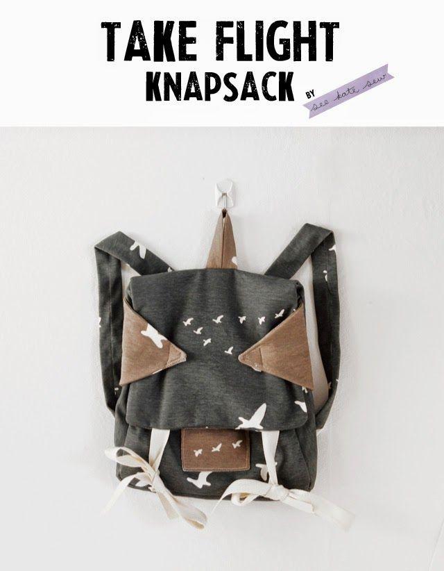 Take Flight Knapsack free sewing pattern - Sew Pretty Sew Free