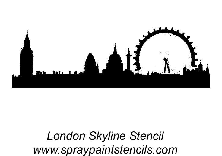 london cityscape silhouette template | London Skyline - Stencil Outline Version