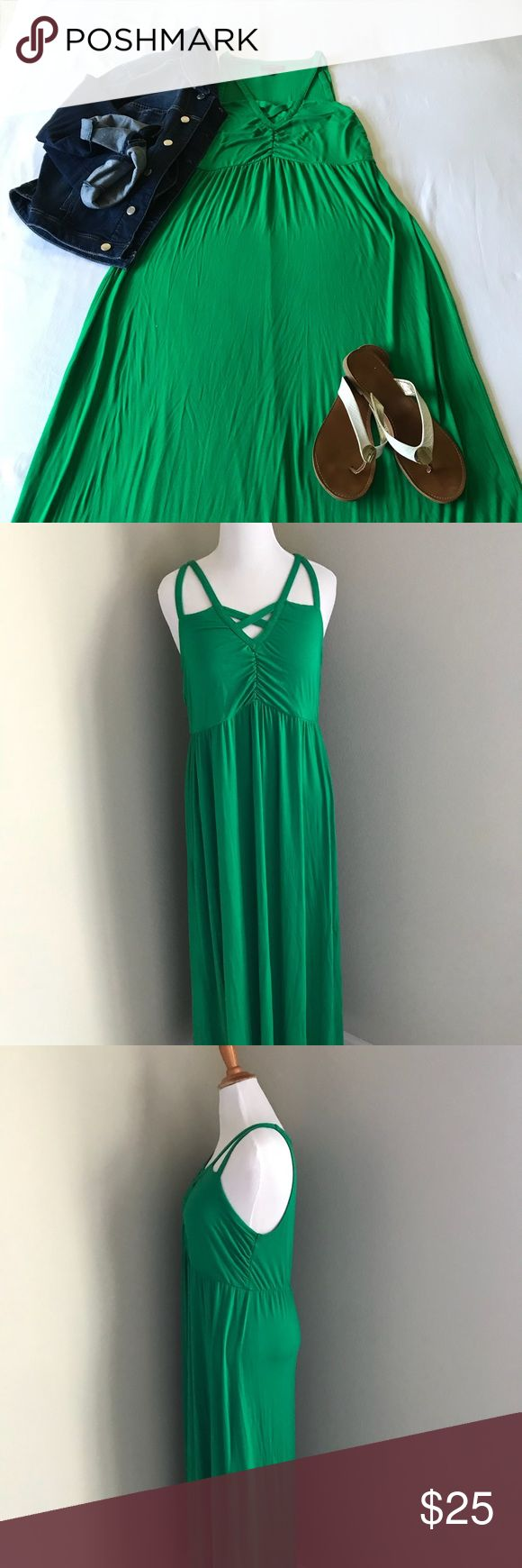 Kelley Green Maxi Dress Your friends are gonna be green with envy as you rock St. Patty's Day and summer days in this bold Kelley Green Maxi Dress. Don't pass this one up! Lane Bryant Dresses Maxi