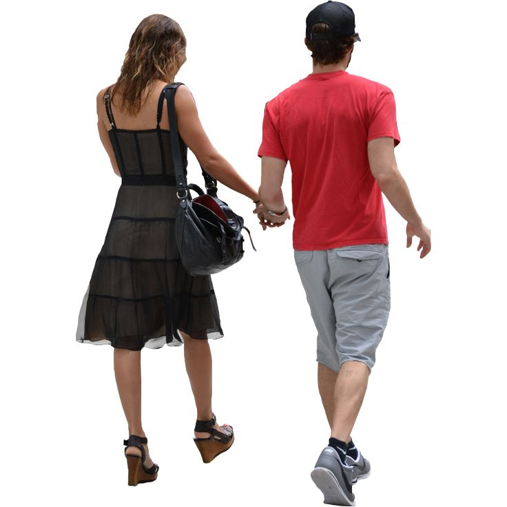 Back View of Couple Walking Away | Immediate Entourage