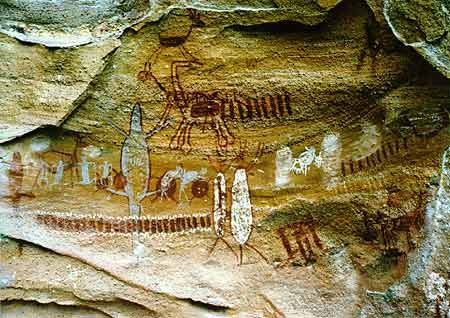 Parque Nacional da Serra da Capivara - Piauí - Brasil - sítios arqueológicos