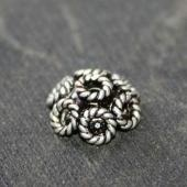 Trimming sterling silver bali beads