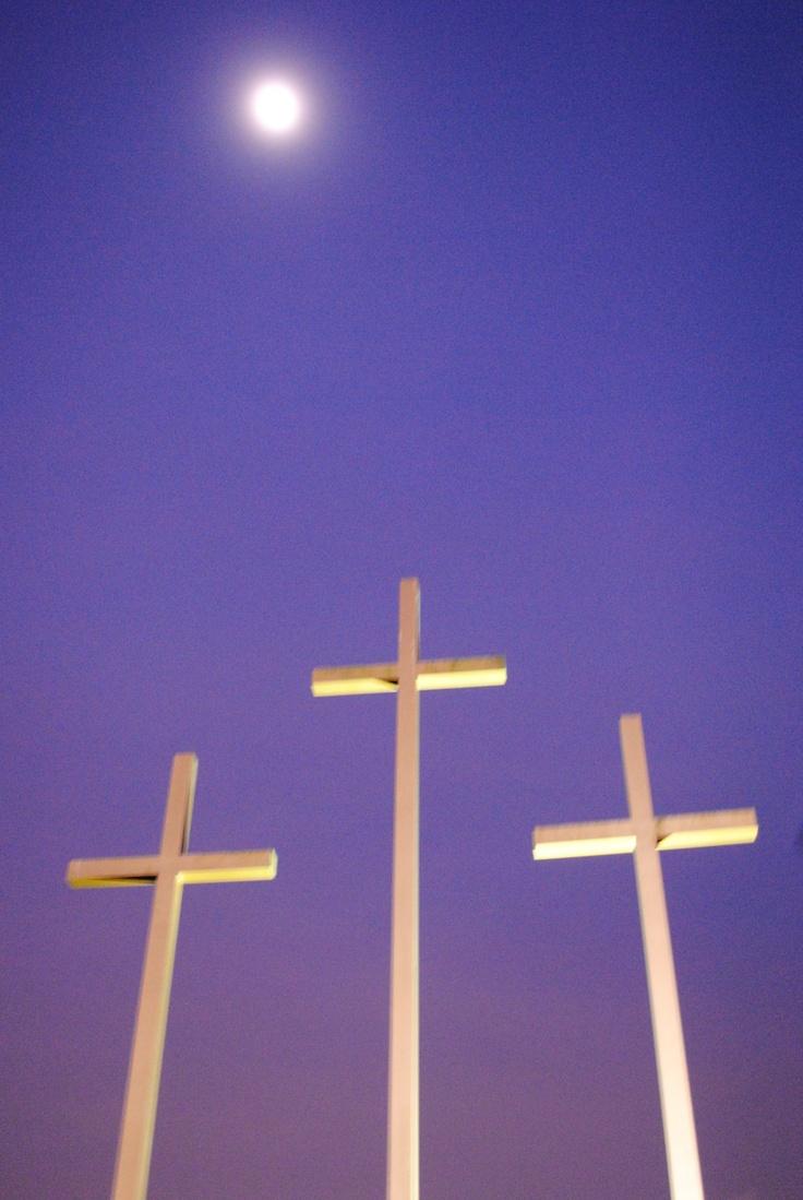 Moonlit Crosses