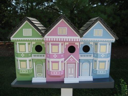 San Francisco Row House Birdhouse