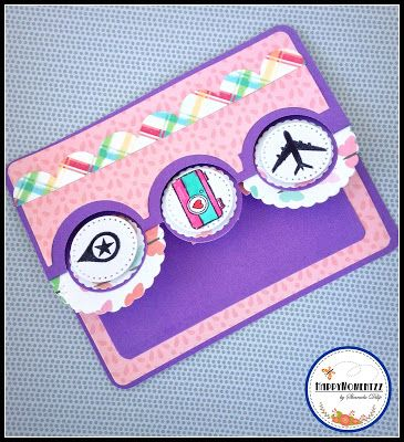 HappyMomentzz crafting by Sharada Dilip: Good Bye and all the best ! Sizzix Triple Circle Flip-its Card Set die