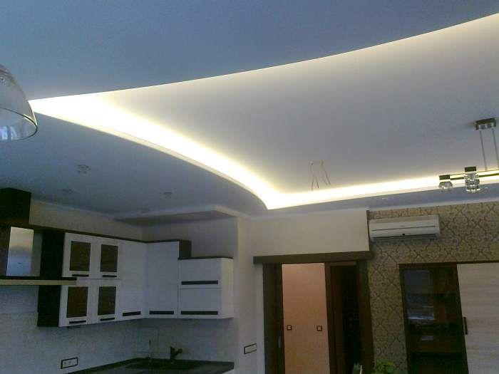 Натяжные потолки светодиодное освещение Ремонт и отделка -  работы - Натяжные, подвесные потолки
