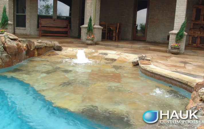 Beach Entry Pool With Bubbler Swimming Pool Ideas Pinterest Beach Entry Pool
