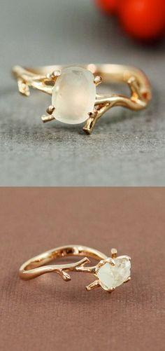 Twig Amethyst Ring