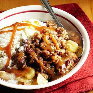 Caramel apple crispDesserts Recipe, Apples Pies, Apple Desserts, Midwest Living, Apple Crisps, Nutty Caramel, Apples Desserts, Apples Crisps, Caramel Apples