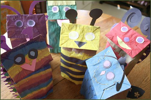 Paper Bag Puppets  An oldie but a goodie! A puppet show is a great way to pass a lazy afternoon.   via Our Big Earth