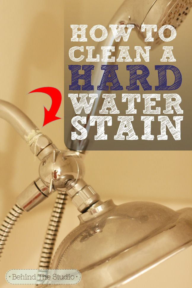 How to remove hard water buildup #cleaning