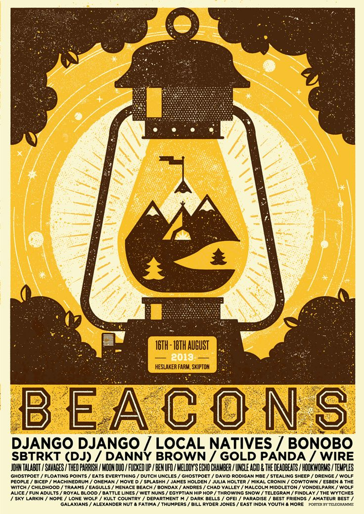 Just wrapped up this years Beacons Festival poster - Its a pretty ace looking line up. Get along this weekend. and youll be able tp ickk up one of these 2 colour hand printed posters.
