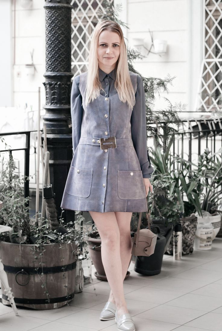 sixties seventies retro vintage suede dress EPIC STREET STYLE by Gabriella